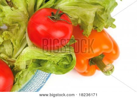 Plate of fresh salad
