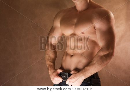 Sexy muskulösen Mann
