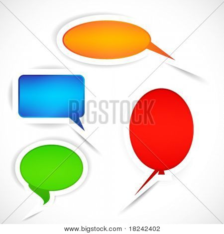 Vector Set of sticker bubbles for speech.