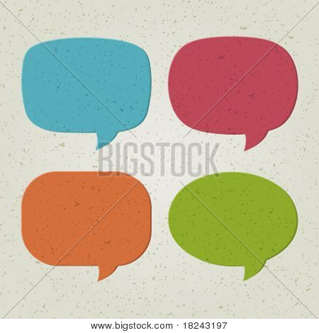 Retro speech bubbles set vector illustration Eps 10.