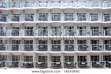 Wall Full Of Balconies