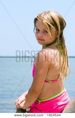 Girl At Waterfront