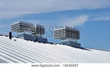 Roof Of Ecologically Retrofitted Building