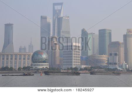 Hazy Modern Shanghai