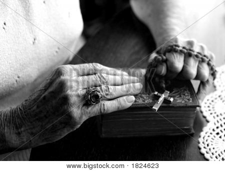 Tired Old Worn Hands Of A Woman