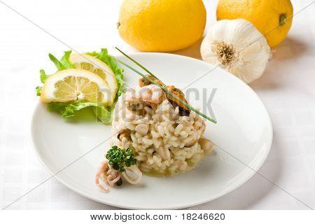 Risotto mit Meeresfrüchten