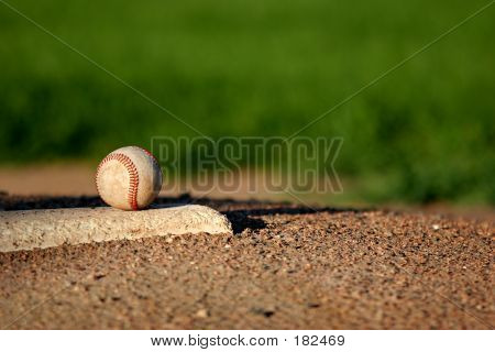 Baseball On Pitchers Mound