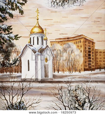 Chapel sacred Nikolay, Russia, Novosibirsk