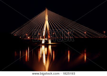 Syreny Bridge In Warsaw