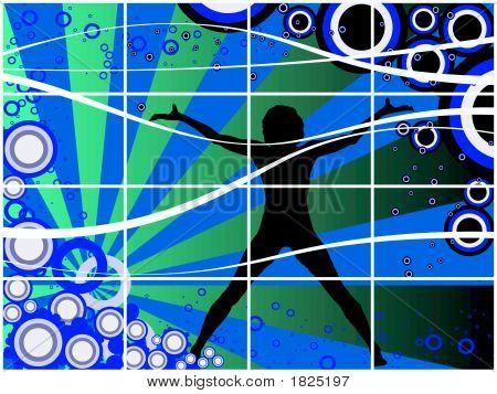 Blue Circles 3