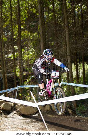 Downhiller Practice Run Uphill Over Ramp