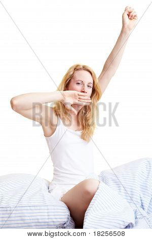 Yawning In Bed