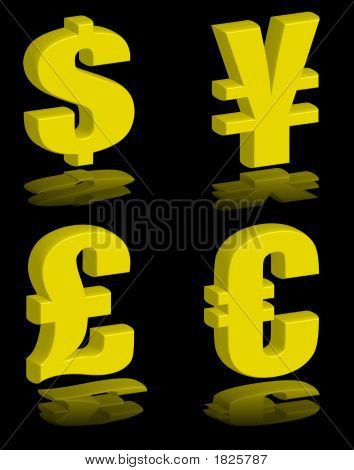 Money Symbols Gold