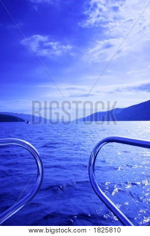 Blue Waterscape From Boat