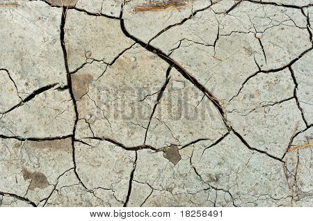 Dry Cracked Soil Texture