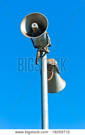 Loudspeaker Against Blue Sky