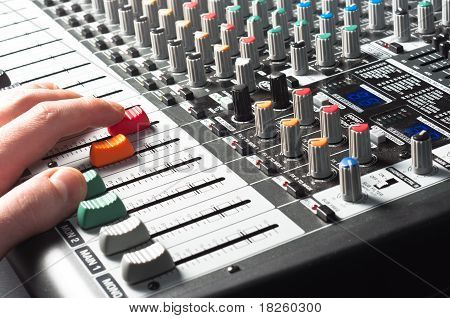 Sound Mixer With Hand Using Slider