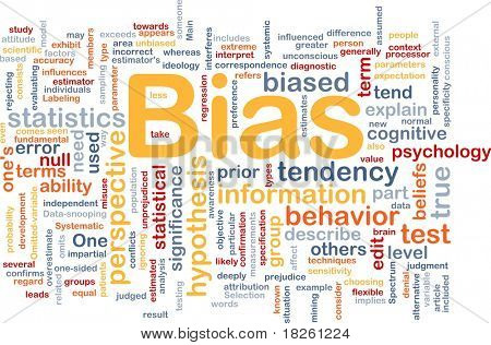 Background concept wordcloud illustration of bias