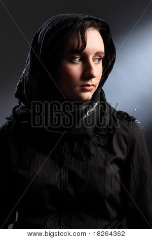 Peace And Quiet For Young Religious Woman In Hijab