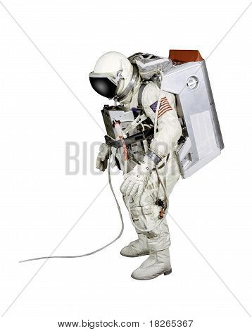Astronaut On A White Background