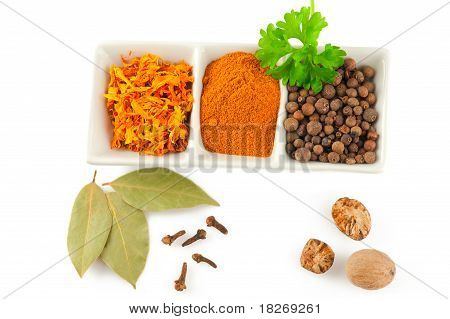 Spices. Mix Of Different Herbs