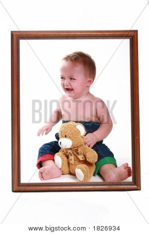 Crying Baby In A Frame