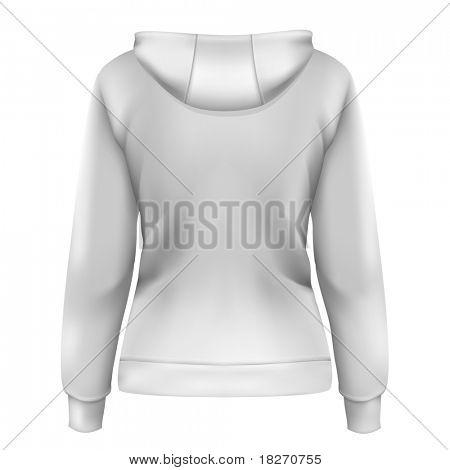 Vector. Women's hoodie (back design)