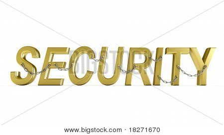 """SECURITY"" word with chain."