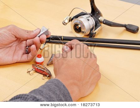 Prepping The Fishing Rod