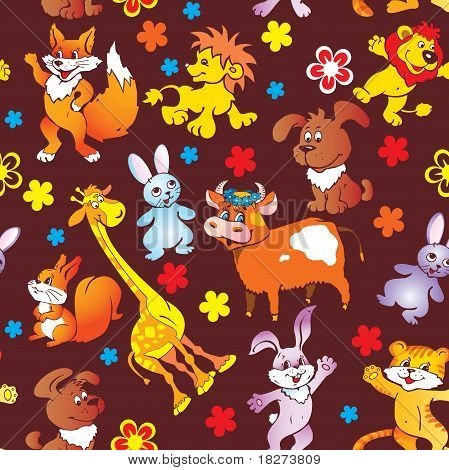 Seamless animal pattern.