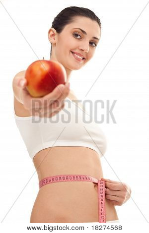 Woman Showing Health Lifestyles