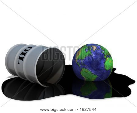Oil Drum Earth Oilspill