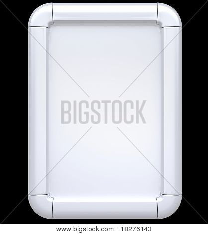 White Billboard Or Citylight Isolated