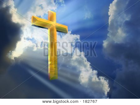 Cross In  Heavenly Sky