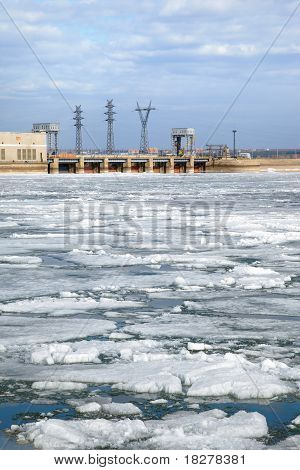 Ice Drift And Hydropower Station