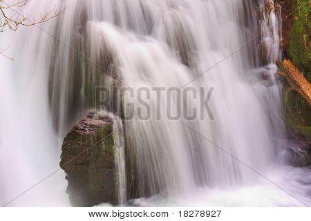 Flowing Water At Multnomah Falls.