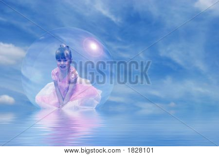 Princess Floating In Bubble
