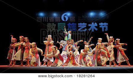 Mongolian ethnic dancers