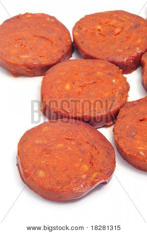 a few slices of sobrasada, a typical mallorca sausage