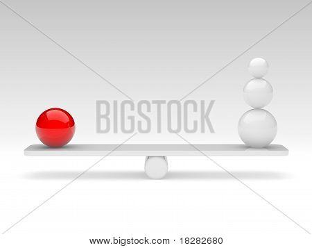 Spheres Compare (balance Concept)