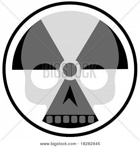 radioactivity sign with skull