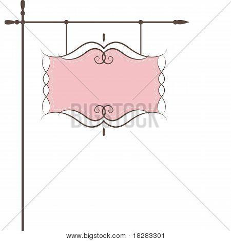 Restaurant vector sign . Vector illustration