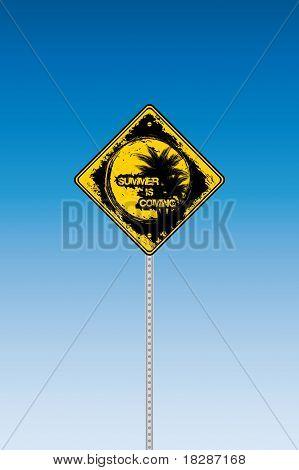 Tropical Beach Road Sign