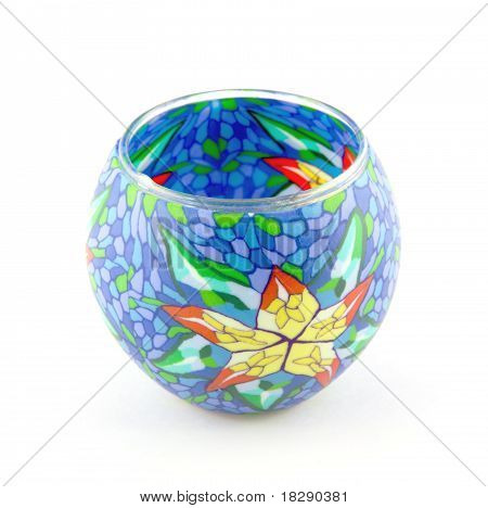 Blue Vase On A White Background