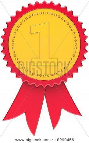 Concesión de oro número uno con cinta roja