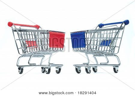 Isolated shopping trolley