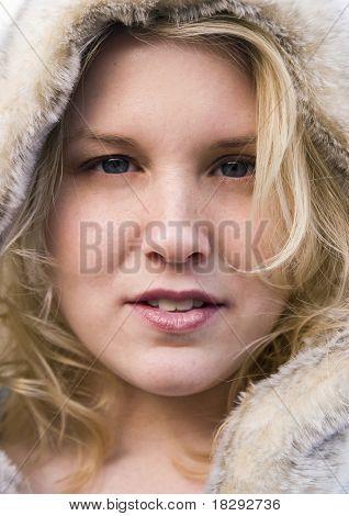Blue Eyes in the Winter