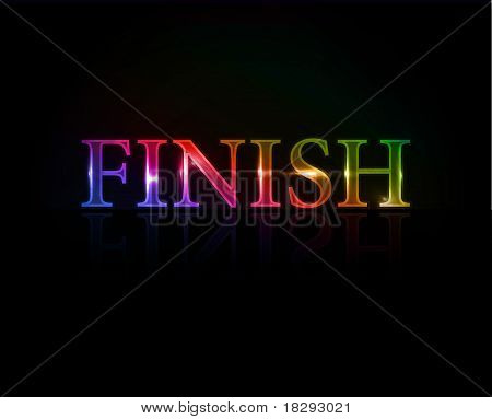 Finish Colorful Text