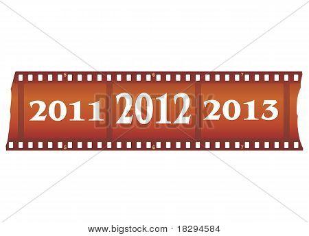 Ilustración de Vector de tira de película de año nuevo