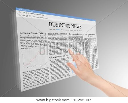 Future Screen With Business News